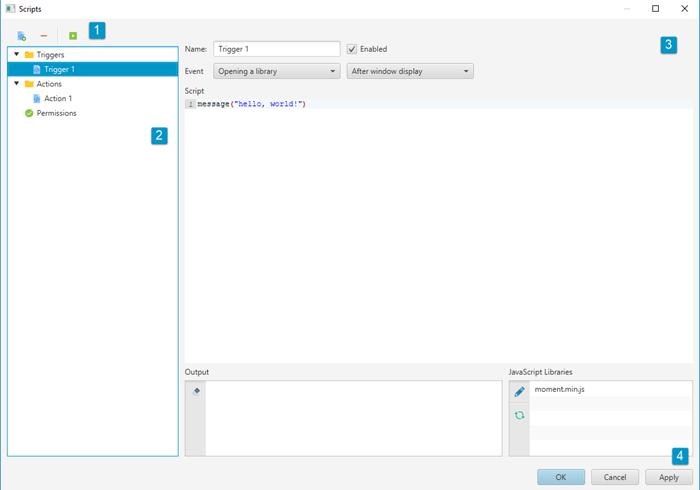 Adding scripts – Memento Database Help