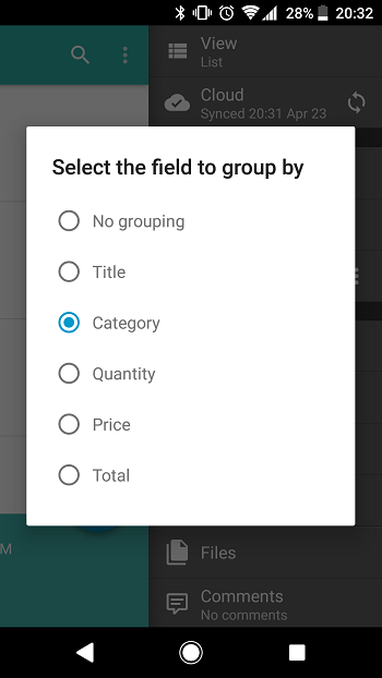Android: Grouping