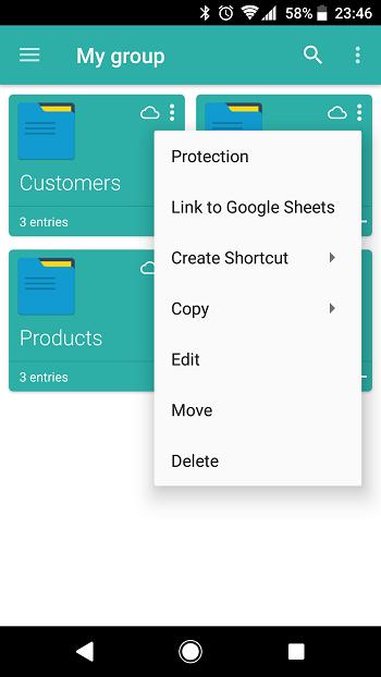 Mobile: Basic menu