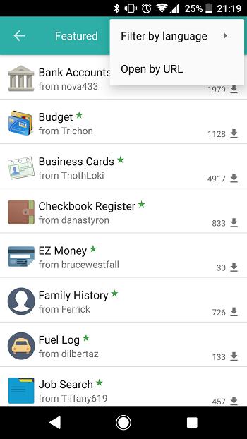 Mobile: Online catalog