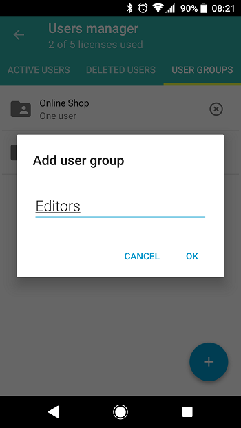 Android: User groups