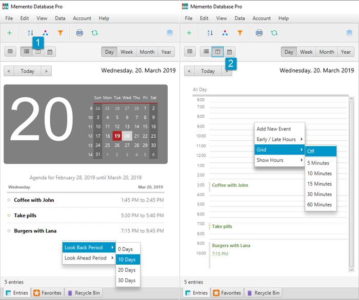 Calendar: Views